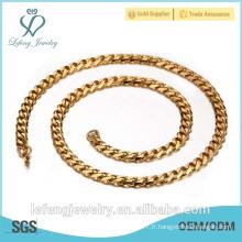 Vente en gros de bijoux en or à la mode, collier de chaîne Twill bon marché en acier inoxydable 316l