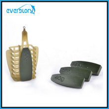 Good Quality and Competitive Plastic EU Feeder Cage with Lead Weight PT0003 Fishing Tackle