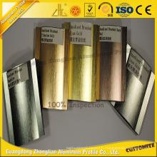 Profil en aluminium balayé brillant anodisé par OEM pour des pièces en aluminium de décoration de meubles