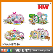 Hot Selling Educational 3D three-dimensional painting Puzzle