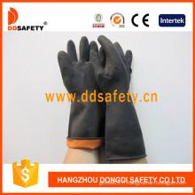 Orange à l'intérieur et noir à l'extérieur des gants d'industrie de couleur double-DHL501
