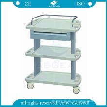 AG-LPT004A CE ISO abs medizinische Instrument Trolley Krankenhaus Kunststoff Dienstprogramm Warenkorb