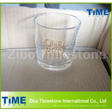 8 унций виски питьевой стеклянный стакан с круглым дном
