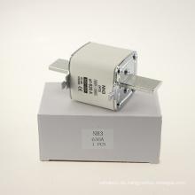 Yumo Nh3 630A Füllrohr mit geschlossenem Rohr Typ HRC Niederspannungs-Sicherungsverbindung