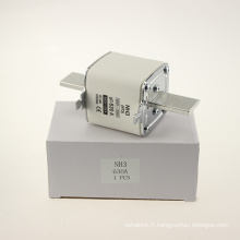 Yumo Nh3 630A Filler fermé Type de tube HRC basse tension Fusible