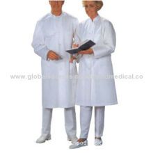 Doctor gown, long sleeves, with pockets