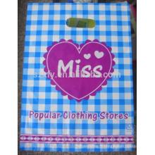 Poignée PO PO Hand Cut Handle Sac en plastique pour vêtements
