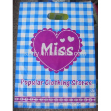 PE PO Handle Die Cut Handle Plastic bag for clothing