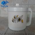 Opal Glass Pressing Tea Pot With Lid