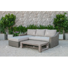 ALAND COLLECTION - New Design PE Wicker Rattan Outdoor Furniture Sofa L shape