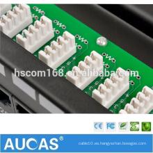 25 placa de circuito de puerto blindado panel de parches de voz / RJ11 teléfono cableado de voz bloque / 110 doble IDC 100 pares de cable de gestión