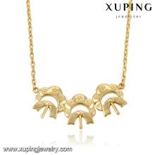 43086 collier de chaîne en or xuping bijoux fashion 18 k delicat pas cher plaqué or collier de bijoux