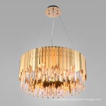 China modern lighting decorative crystal hanging lamp ceiling chandeliers pendant lights metal luster chandelier