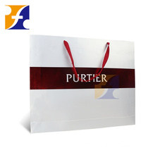 Custom printed shopping gift garment paper bag with logo print for gift wedding