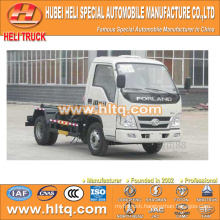 4X2 FOTON FORLAND brand 4.5m3 98hp hosit arm refuse truck shock price professional production hot sale