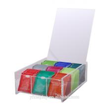 Hottest acrylique sachet de thé boîte pour vendre