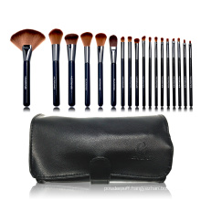 18pc Professional brush collection with black PU bag