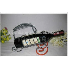 Newly-shape stainless steel wine rack, high-grade,fashionable and practical wine holder
