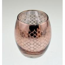 New Design Round Glass Candle Holder for Christmas