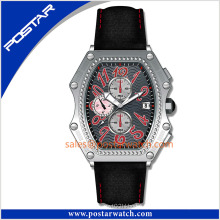 Fancy Sport Watch with Oil Stamped Dial Promotional Leather Watch