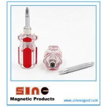 Mini-tournevis rétractable magnétique double (droit / Phillips)