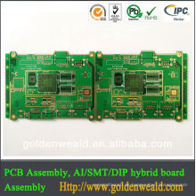 2014 beste Qualität FR4 Bleifrei HASL Grün Verkauft Maske 94V0 PCB Platine China Hersteller LED Platine