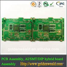 2014 mejor calidad FR4 sin plomo HASL verde vendido máscara 94V0 PCB placa de circuito fabricante de China led pcb