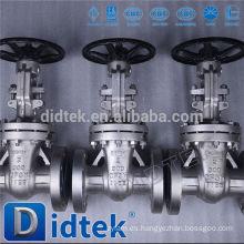 Didtek China fabricante válvula de compuerta con cerradura de latón