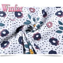 Printed Soft Knit Spandex Spun Polyester Stretch Fabric