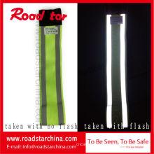 brazalete de gancho y bucle reflexivo de la seguridad para el funcionamiento de