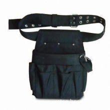 Tool Waist Bag, Made of High Strength Nylon, with Adjustable Waist Strap