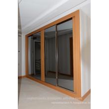 Porte vitrée coulissante, porte vitrée avec miroir,