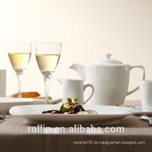 Nuevos productos calientes para la placa de cerámica barata blanca de 2015 / las placas de cena de cerámica calientes de la venta