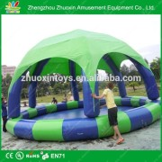 Eco-friendly Environmental Inflation Plastic Swimming Pools With Canopy or Awning