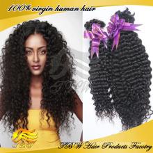 Новое Прибытие kinky вьющиеся волосы 100% сырье необработанные России человеческие волосы объемной