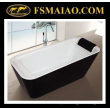 Easy Installation Freestanding Acrylic Bathroom Bathtub with Pillow (9011)