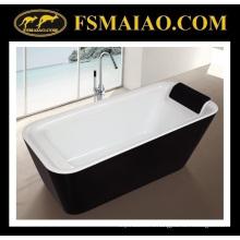 Легкая Установка отдельно стоящая акриловая ванна в ванной комнате с подушкой (9011)