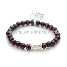 Gute Qualität thailändischen silbernen Schmuck Granat Perlen Armbänder