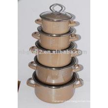 porcelain enamel strait pot sets with high quality