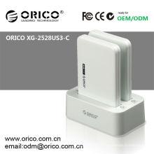 Estação de ancoragem hdd de dual bay clone ORICO 2528US3-C, docking de clone USB3.0 para 2.5''HDD
