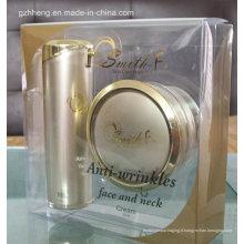 Boîte en plastique de cadeau d'impression offset d'OEM pour des cosmétiques (boîte de PVC)