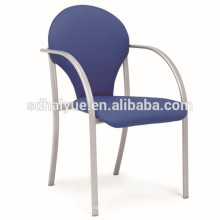 Portable metal frame dining chair stackable fabric banquet chair