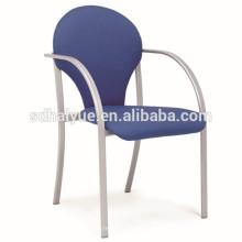 Silla apilable portátil de tela metálica silla comedor silla