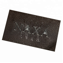 Made in China custom metal hardware brand name logo leather patches for jeans