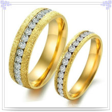 Anillo de dedo de acero inoxidable de la joyería de la manera de los pares (SR531)