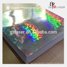 Anti-counterfeit holographic paper for lamination