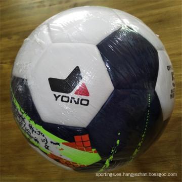 Venda al por mayor el tamaño laminado 5 del balón de fútbol del partido del fútbol del PVC TPU de la PU
