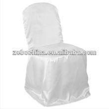 Conception à la mode, fabrication directe, housse de chaise blanche personnalisée en cuir australienne