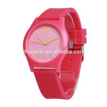 Últimas borracha de silicone Japão movimento impermeável relógios de qualidade superior