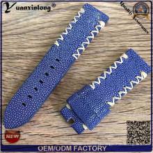 Yxl-754 Genuine diabo Stingray pele couro relógio pulseira